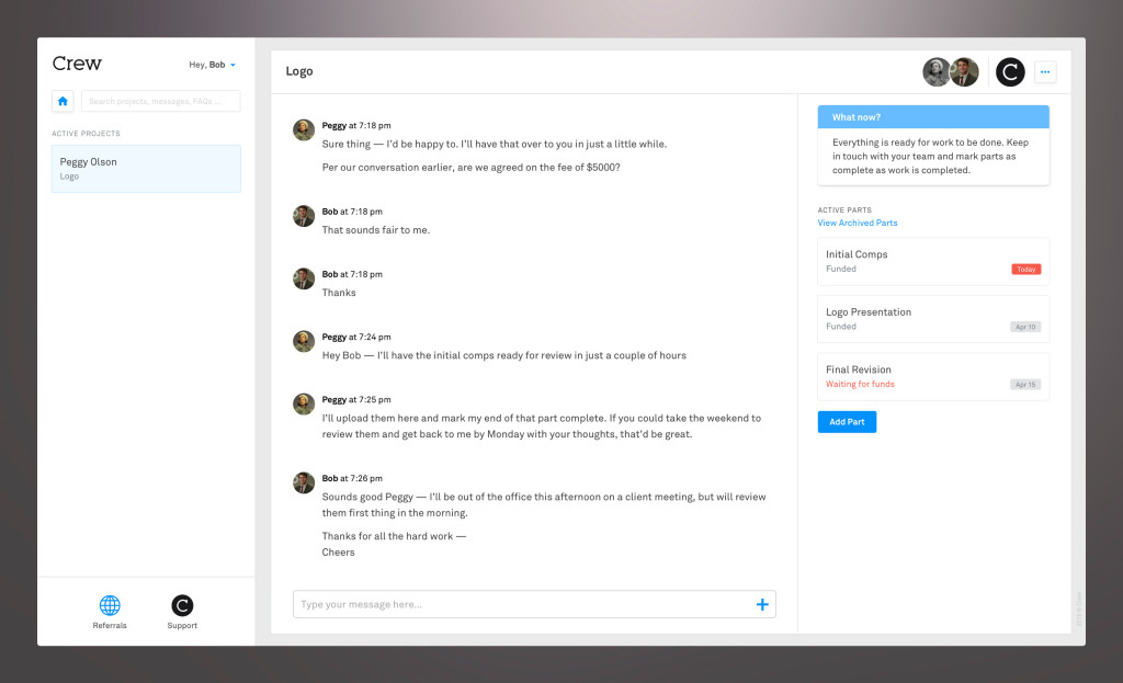 The new design is chat-focused, faster and has search and support built in.